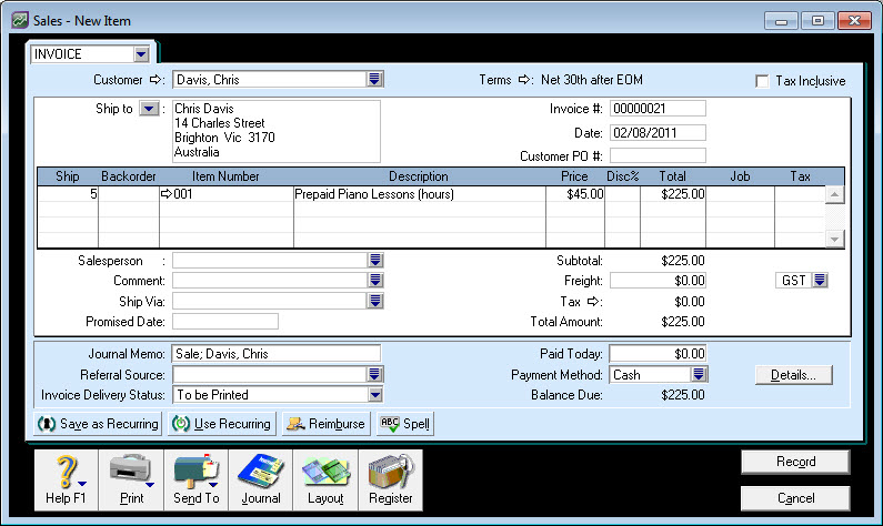 how to download all invoices for a customer accountright