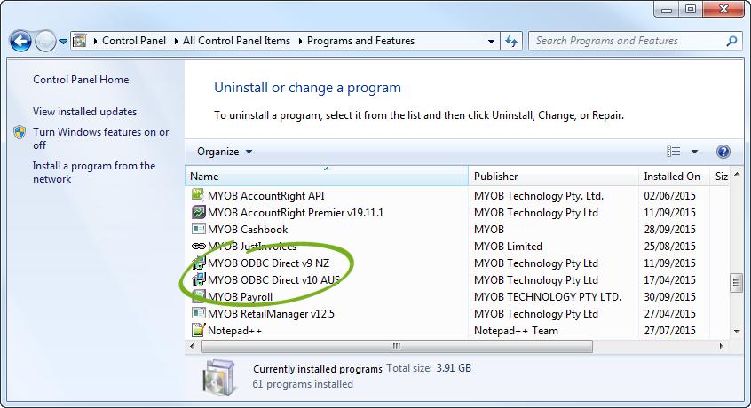 myob odbc direct v10 download