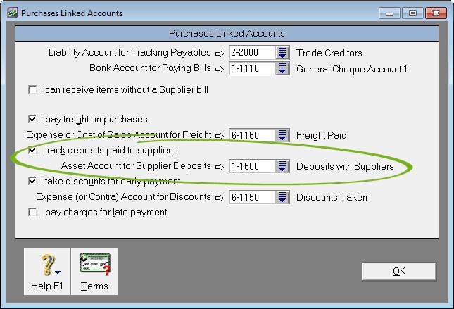 Supplier deposits - Support Notes: MYOB AccountRight v19 - MYOB Help