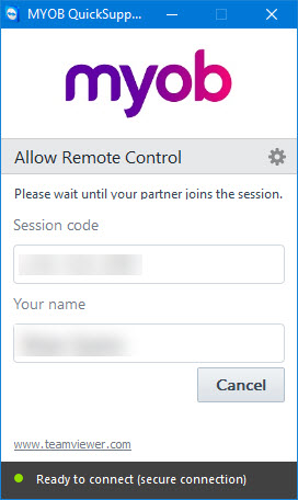 Using TeamViewer for MYOB remote access - Support Notes: MYOB