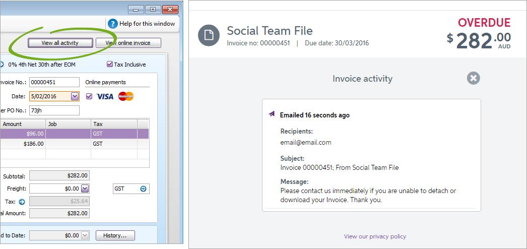 how to delete invoice in myob