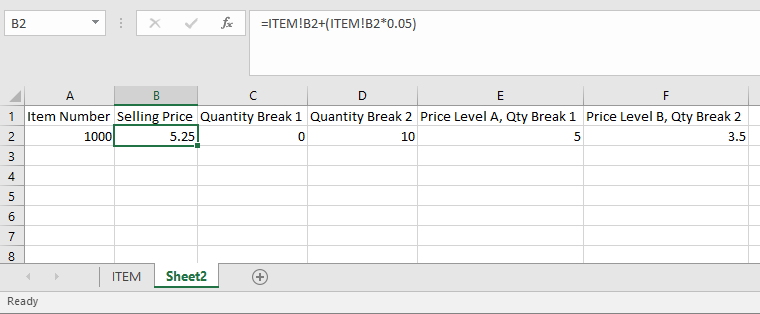 Formula in Excel spreadsheet