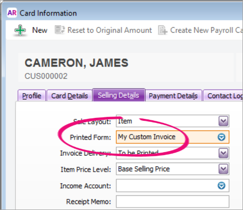 personalising invoices myob accountright myob help centre