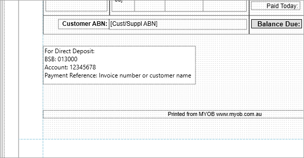 Personalising Invoices Myob Accountright Myob Help Centre