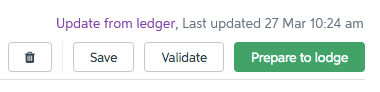 Update from ledger