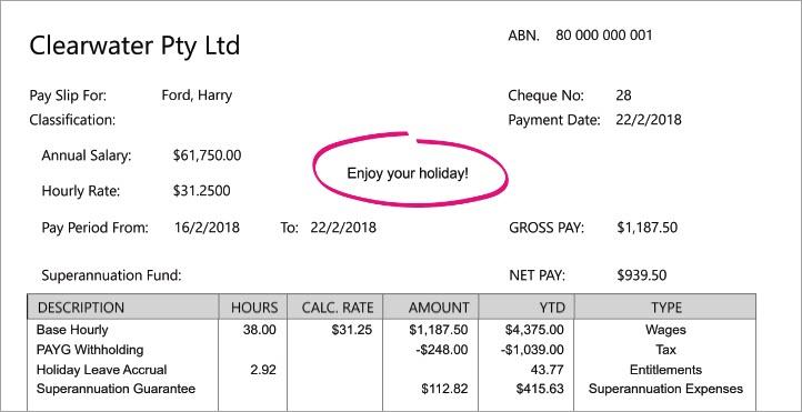 Personalising pay slips - MYOB AccountRight - MYOB Help Centre