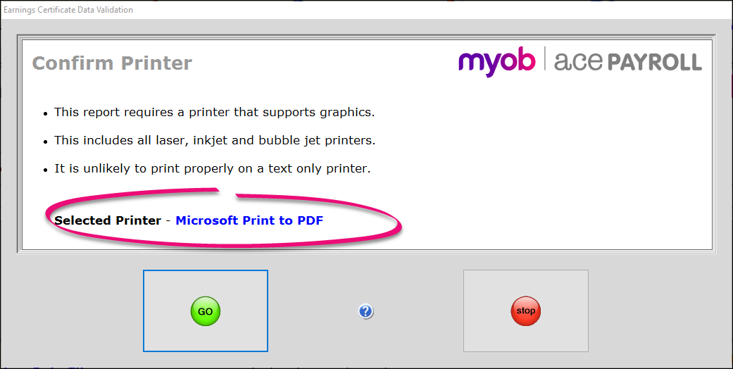 Save a report as a PDF file - Ace Payroll - MYOB Help Centre