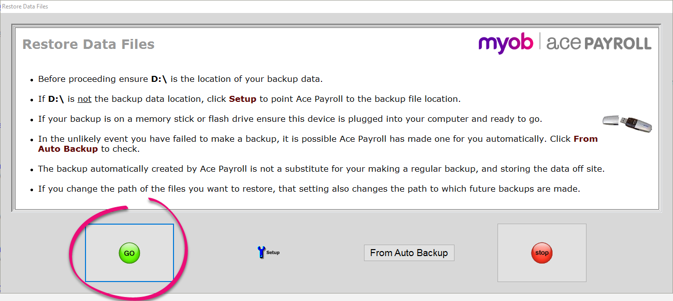 Transfer Ace Payroll to another computer - Ace Payroll - MYOB Help
