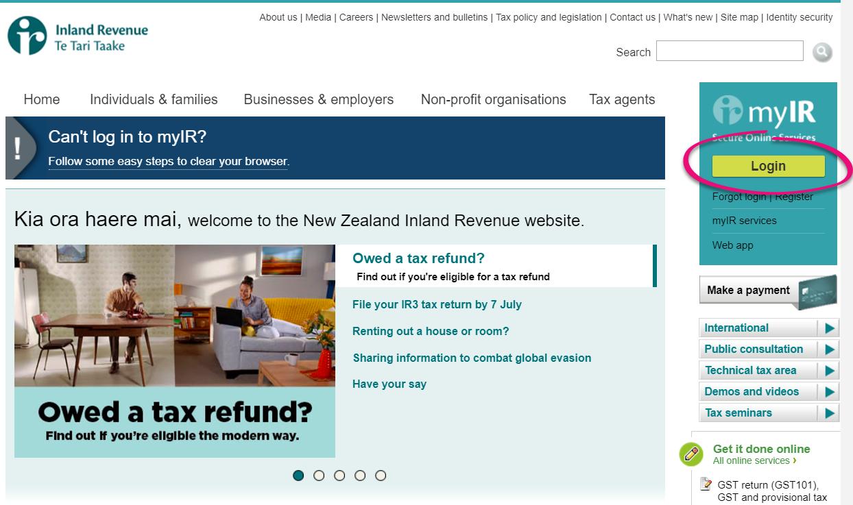 Create and file returns with myIR - Ace Payroll - MYOB Help