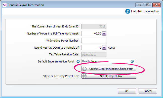 Print A Superannuation Standard Choice Form Myob Accountright