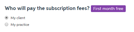 Subscription payment options