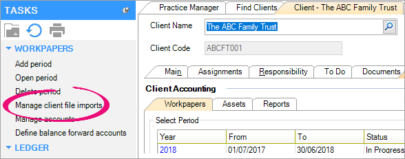 Importing data - PS Help: Client Accounting Help - MYOB Help Centre