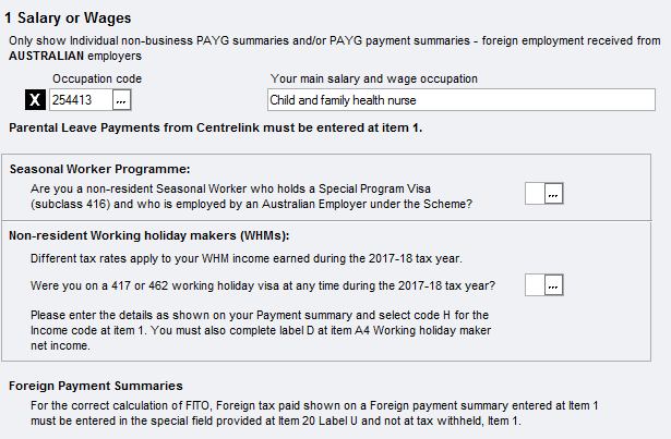 Item 1 - salary, wages, commissions, bonuses etc - PS Help