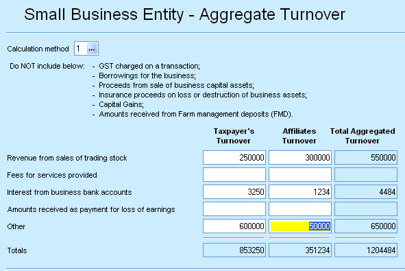 Small business entity aggregated group turnover worksheet (sat) - PS ...