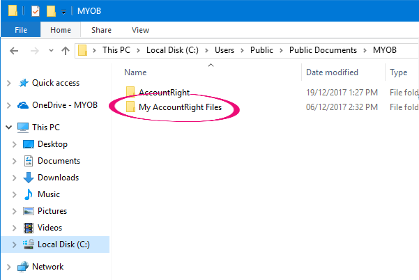 Library folder in Windows Explorer