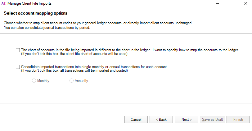 Importing a  CSV file - PS Help: Client Accounting Help