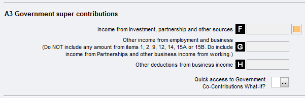 Item A3 - Government super contributions - PS Help: Tax
