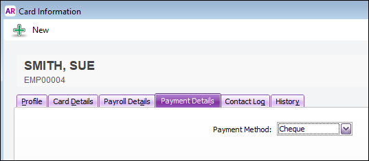 Set default payment method to cheque