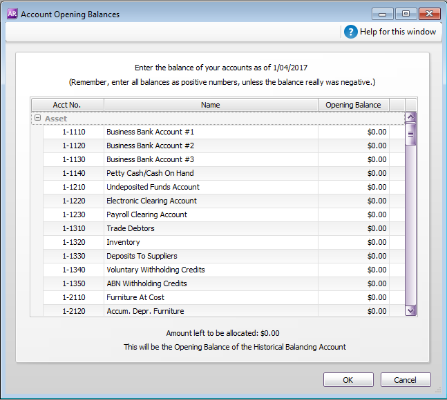 Enter account opening balances - MYOB AccountRight - MYOB