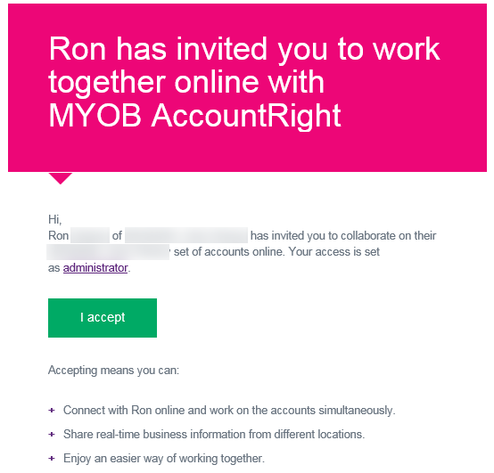 Invitation to work online email