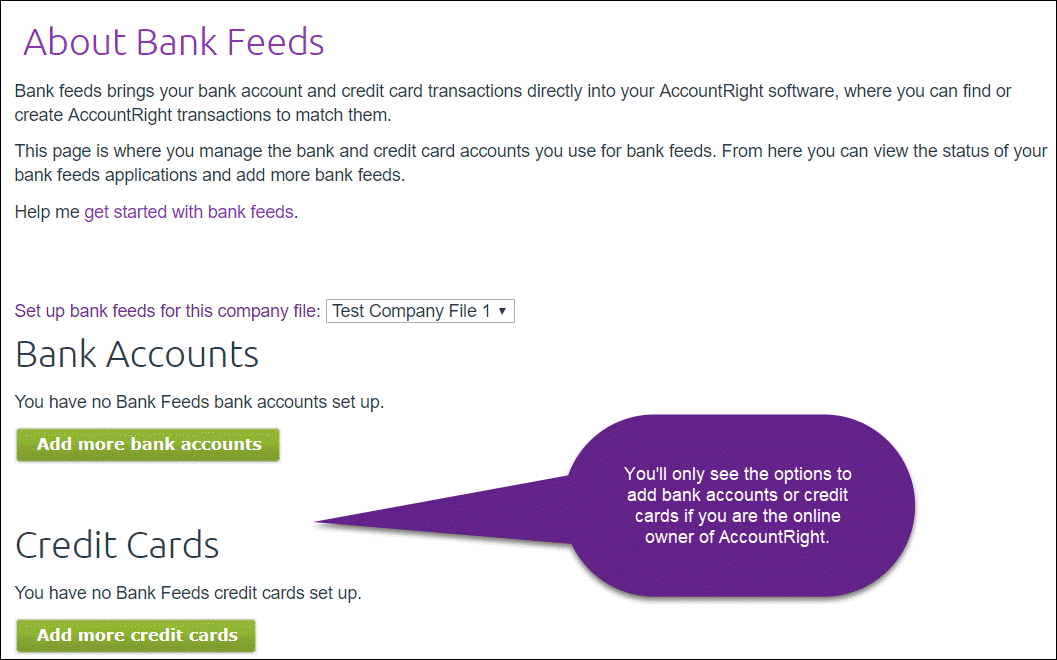 Add bank feeds