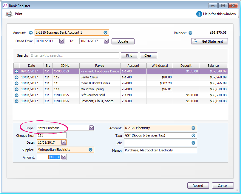 myob how to delete a sale