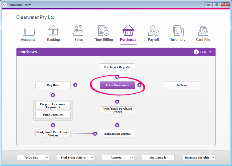 Enter a bill, quote or order - MYOB AccountRight - MYOB ...