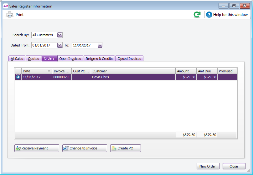 Creating a purchase order from a sale - MYOB AccountRight - MYOB ...