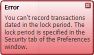 Example lock periods error