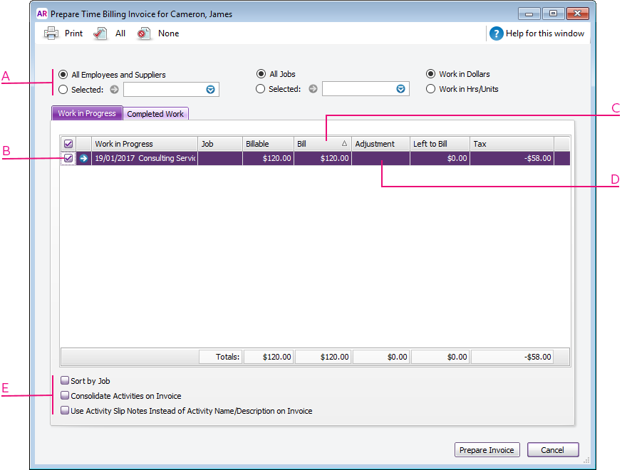 Creating Time Billing Invoices MYOB AccountRight MYOB Help Centre - Create billing invoice