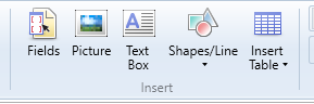 Customise toolbar