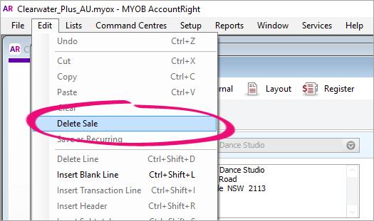 how to record sales return in myob