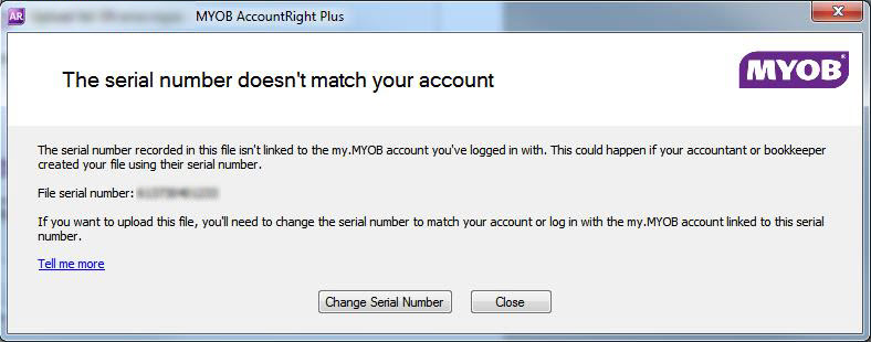 Your AccountRight serial number - MYOB AccountRight - MYOB Help Centre