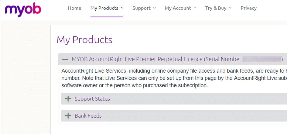 Your AccountRight serial number - MYOB AccountRight - MYOB