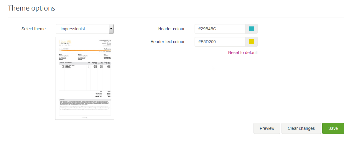 example invoice preview