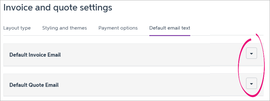 The Chosen Section Expands, Showing The Default Email And A List Of  Variables.  How To Type Up An Invoice