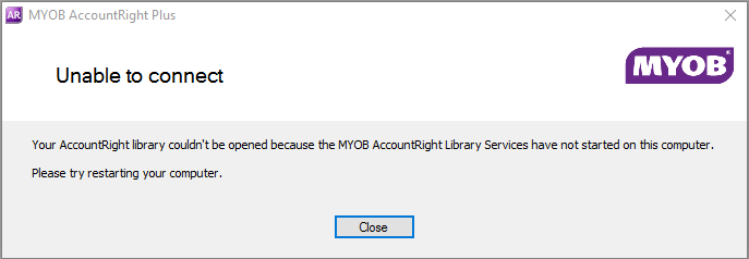 Example unable to connect error