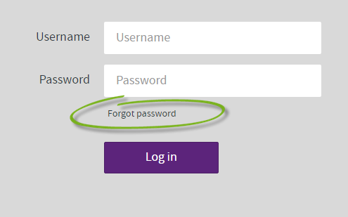 login screen with forgot password link highlighted