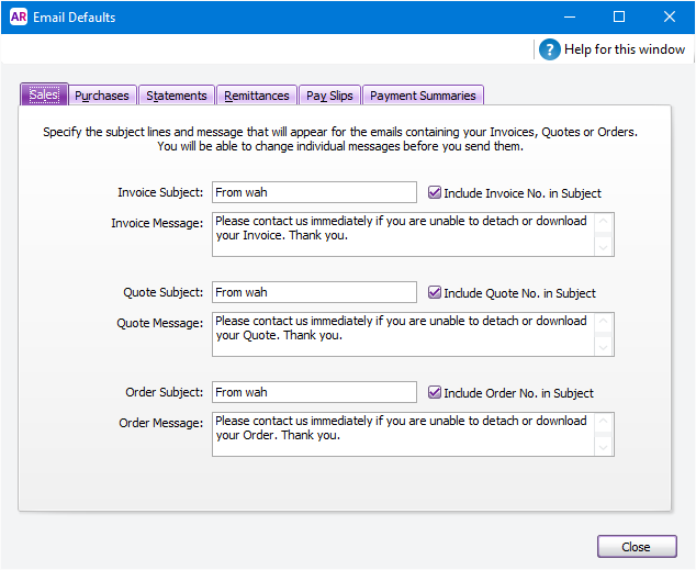 Set Up Your Default Email Settings MYOB AccountRight MYOB Help - Emailed invoice